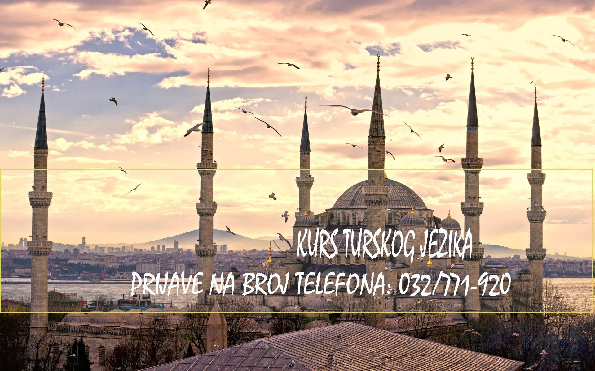 JU KSC KAKANJ ORGANIZUJE: KURS TURSKOG JEZIKA NIVO A1