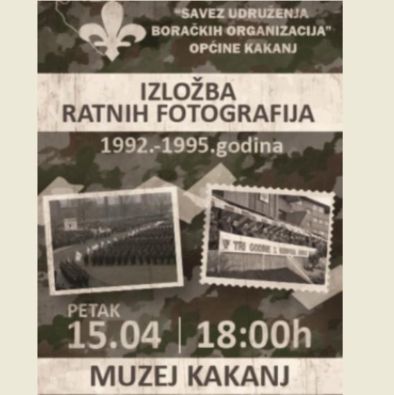 IZLOŽBA RATNIH FOTOGRAFIJA KAKANJSKIH JEDINICA I PRIKAZIVANJE DOKUMENTARNOG FILMA DEFILE 3. KORPUSA