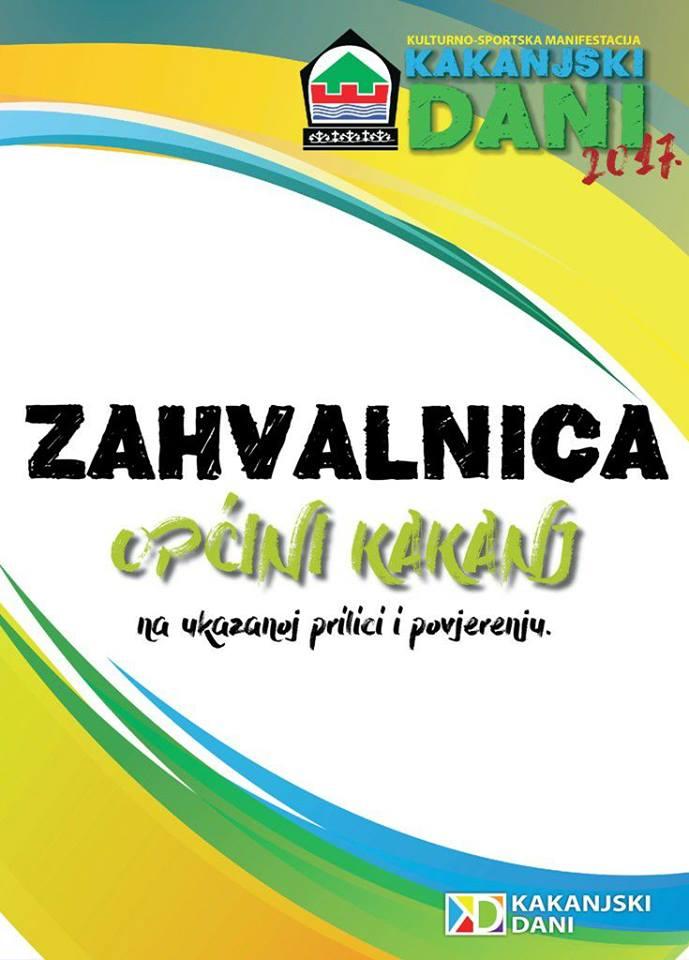 Kakanjski dani 2017: Posebna zahvalnica Općini Kakanj