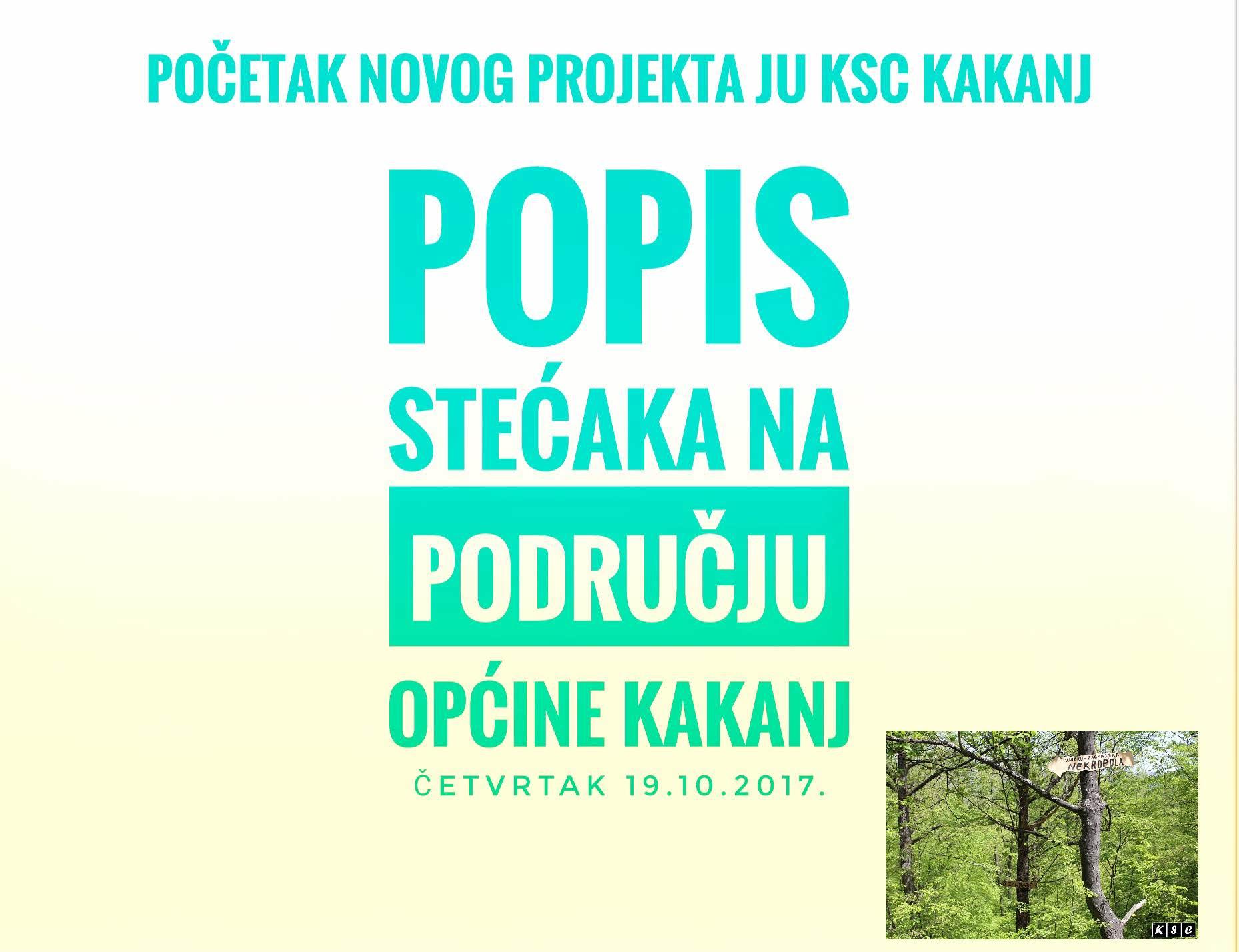"""""""Popis stećaka na području općine Kakanj"""": Danas obilazak lokaliteta Saračevo brdo, Bijeli Greb i Hrašće"""