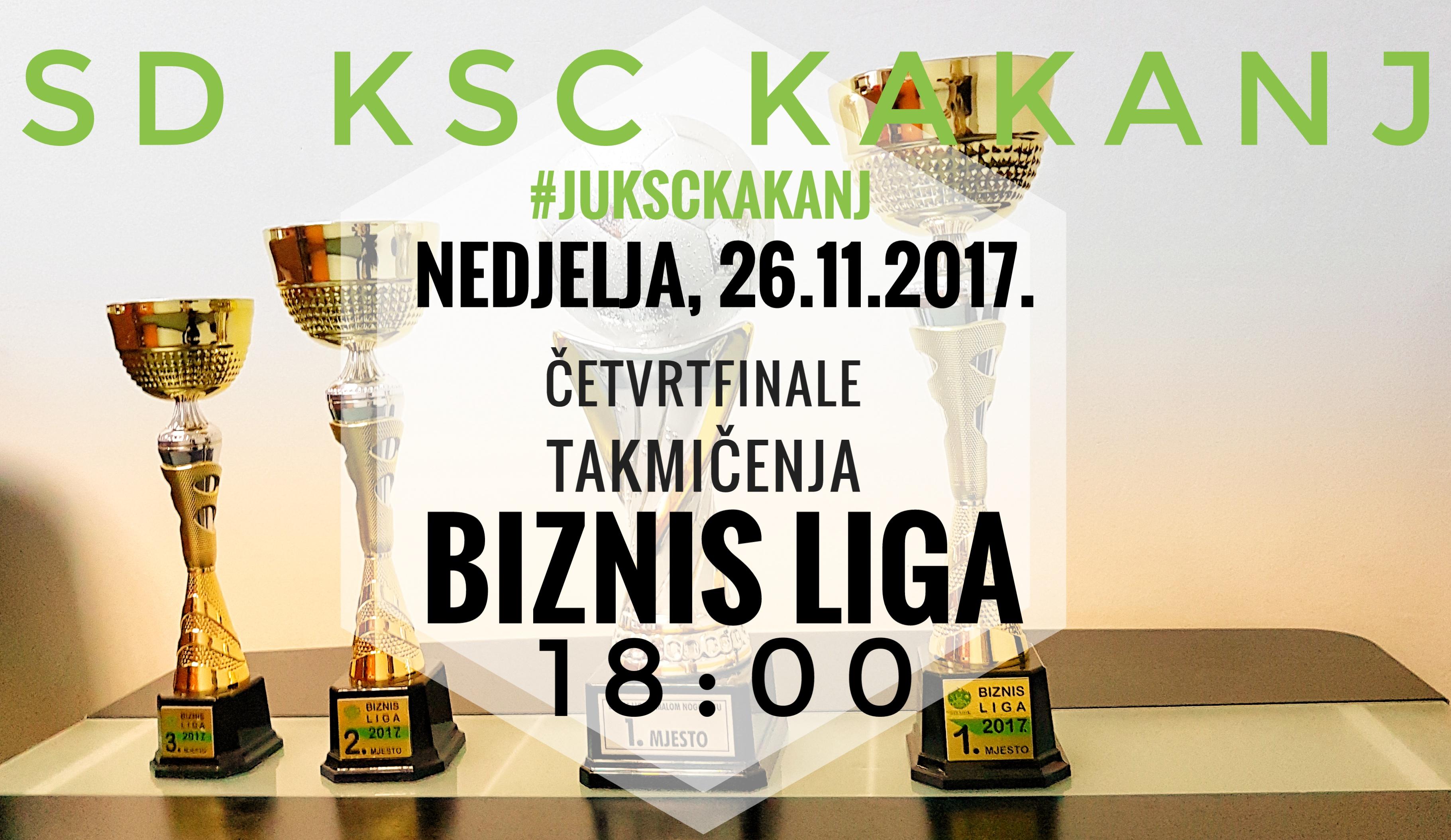 """SVI U DVORANU! Sutra četvrtfinale takmičenja u malom nogometu Biznis liga """"Kakanj 2017"""""""