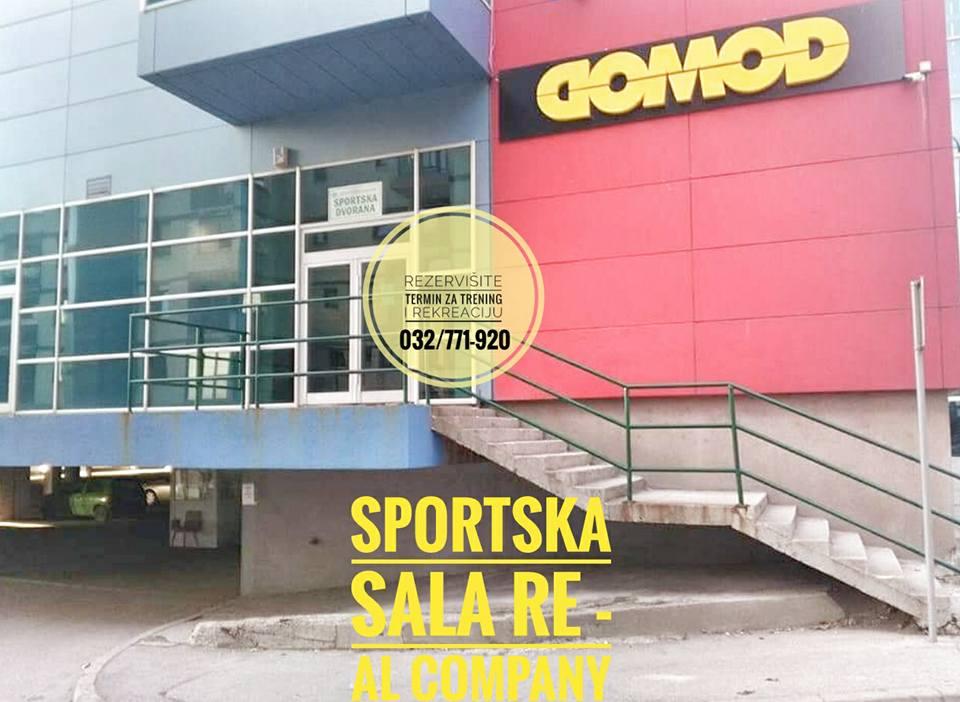 Trening i rekreacija u sportskoj sali Re-Al Company: Grijanje u funkciji – Rezervacije na broj 032/771-920