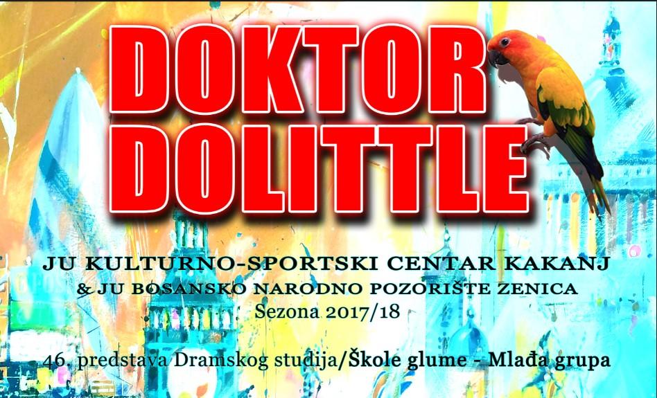"""Kultura u Kaknju živi: Najavljujemo još jednu premijeru dječije pozorišne predstave """"""""Doktor Dolittle"""" – Hugh Lofting"""