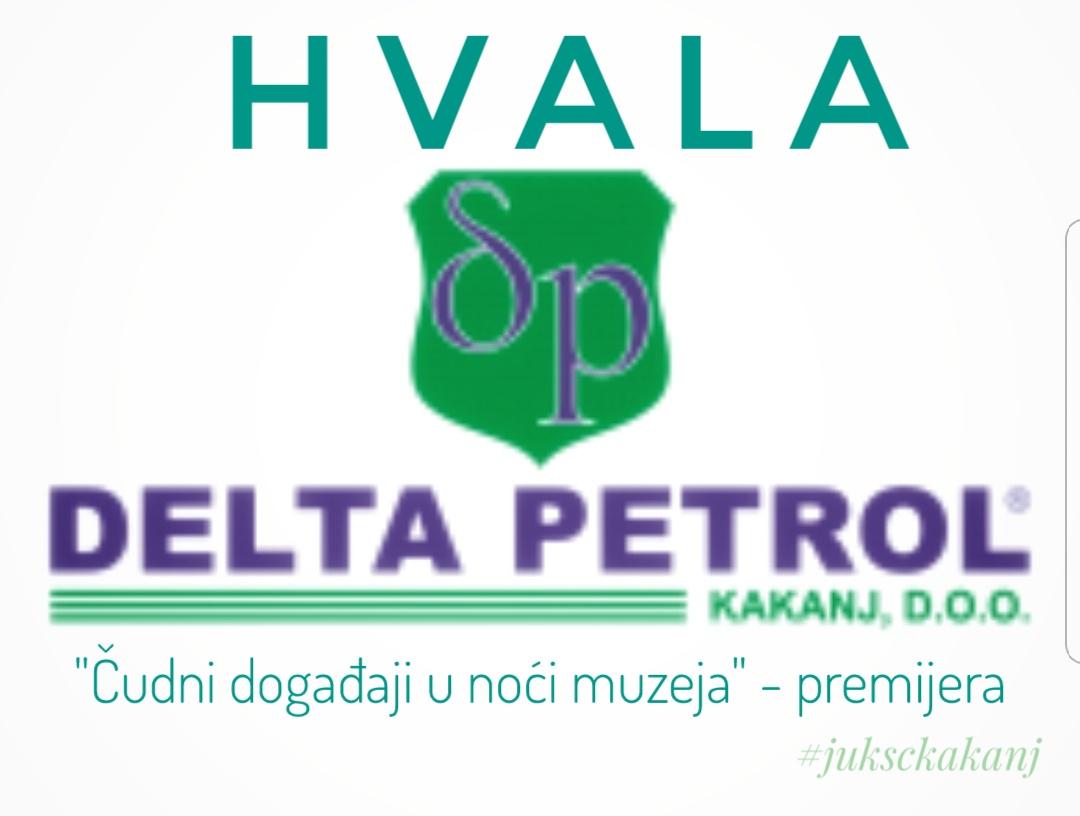 Zahvaljujemo se firmi Delta Petrol na partnerstvu za premijeru večerašnje predstave