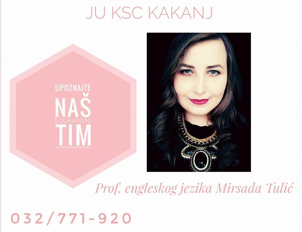 Upoznajte naš edukativni tim: Prof. engleskog jezika Mirsada Tulić