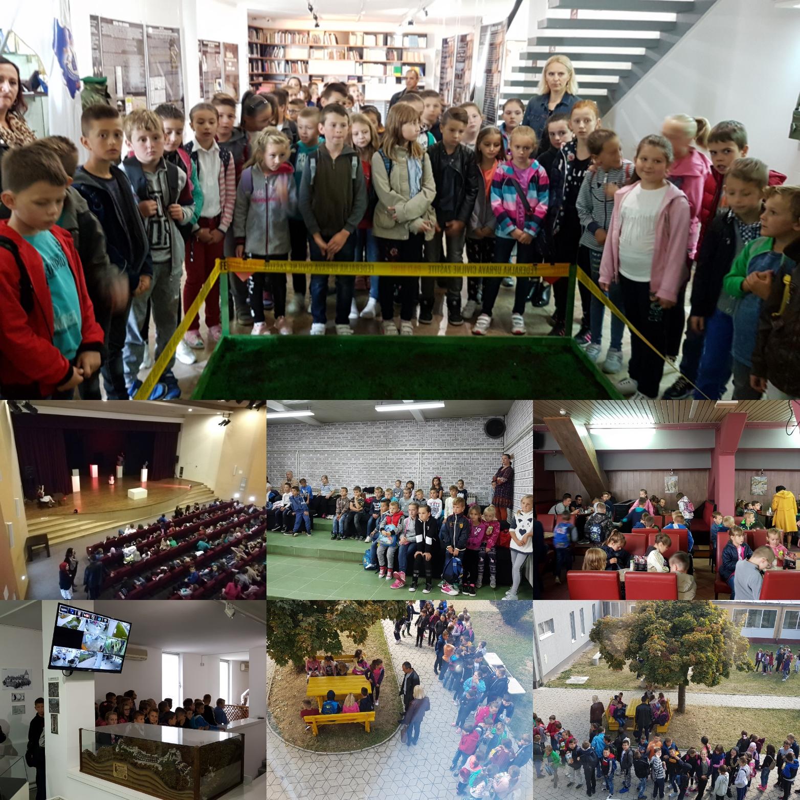 Učenici iz Zagrađa, Vukanovića, Tršća i iz Bijelih Voda danas posjetili JU KSC Kakanj / Tri časa u JU