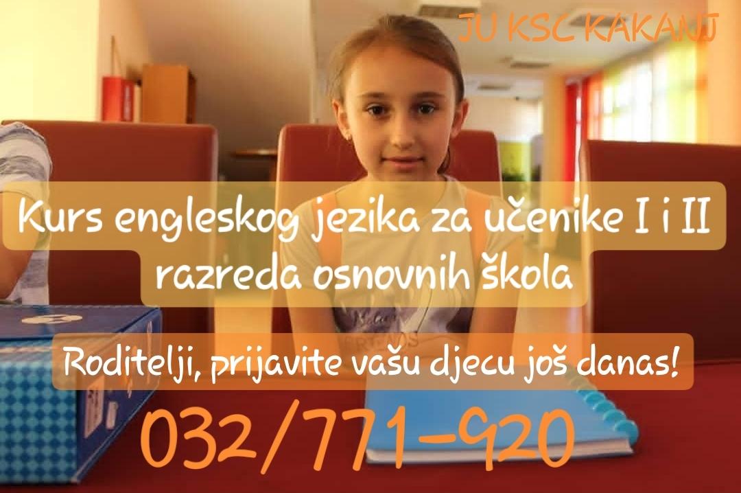 Danas posljednji dan za prijave na kurs engleskog jezika za učenike I i II razreda u osnovnim školama – Prijavite i vi vašu djecu na vrijeme