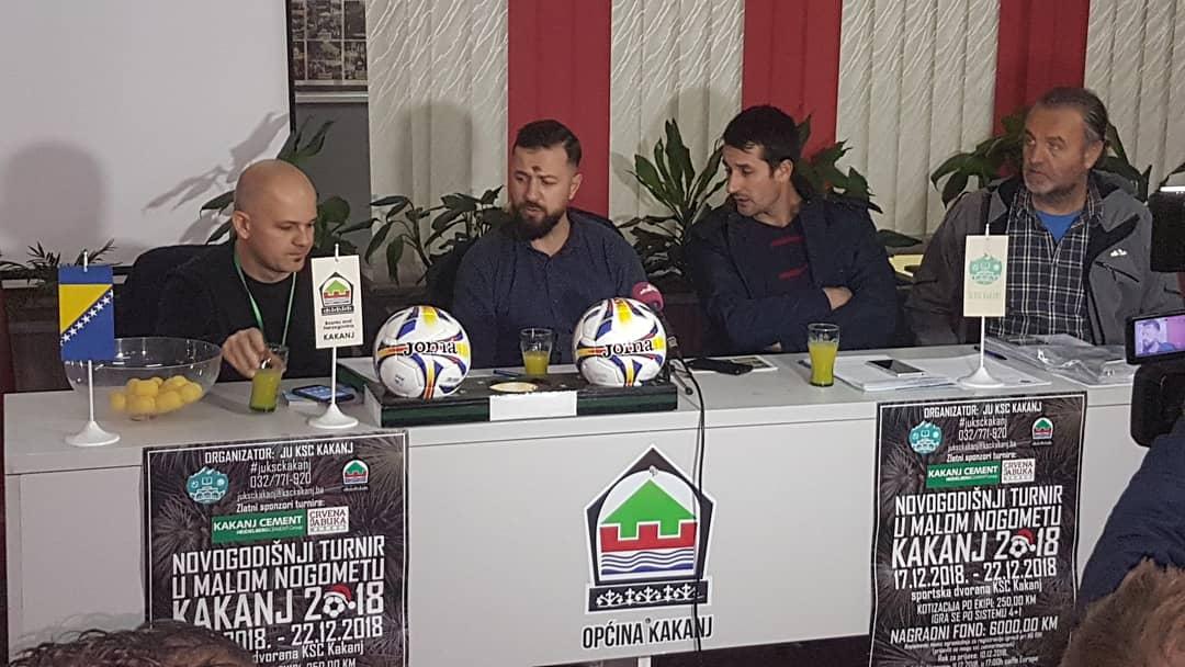 """Novogodišnji turnir u malom nogometu """"Kakanj 2018"""": 16 prijavljenih ekipa, 7 gradova, preko 200 učesnika, nagradni fond 6.000 KM"""