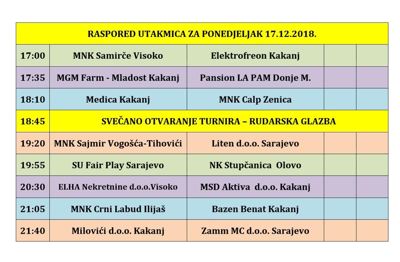 """Novogodišnji turnir """"Kakanj 2018"""": Raspored utakmica za svih šest dana turnira"""
