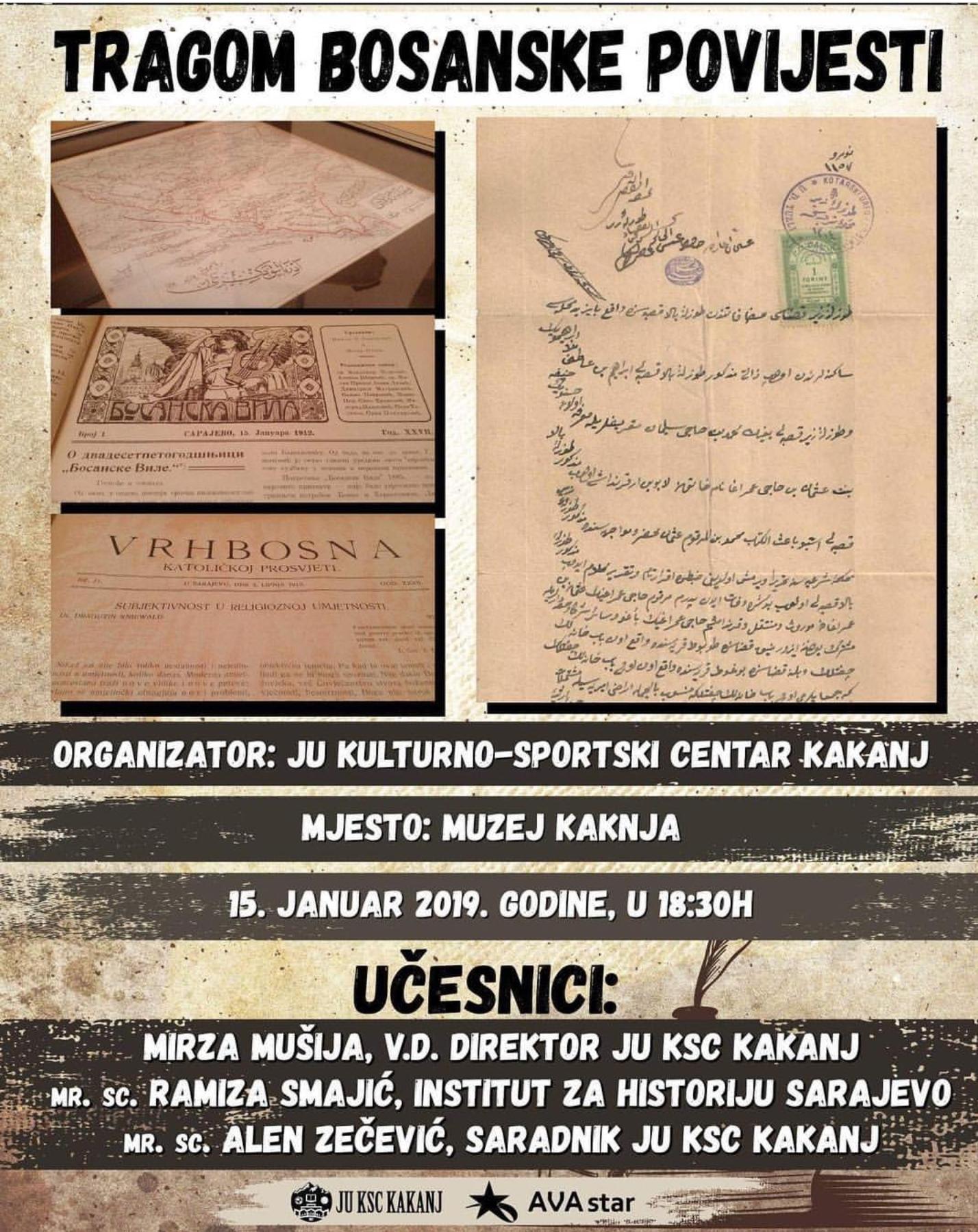 """Danas otvorenje izložbe """"Tragom bosanske povijesti"""" u Muzeju Kaknja"""