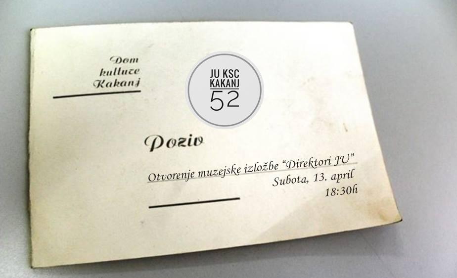 """Svečano otvaranje muzejske izložbe """"Direktori JU"""" tokom 52 godine postojanja i rada"""