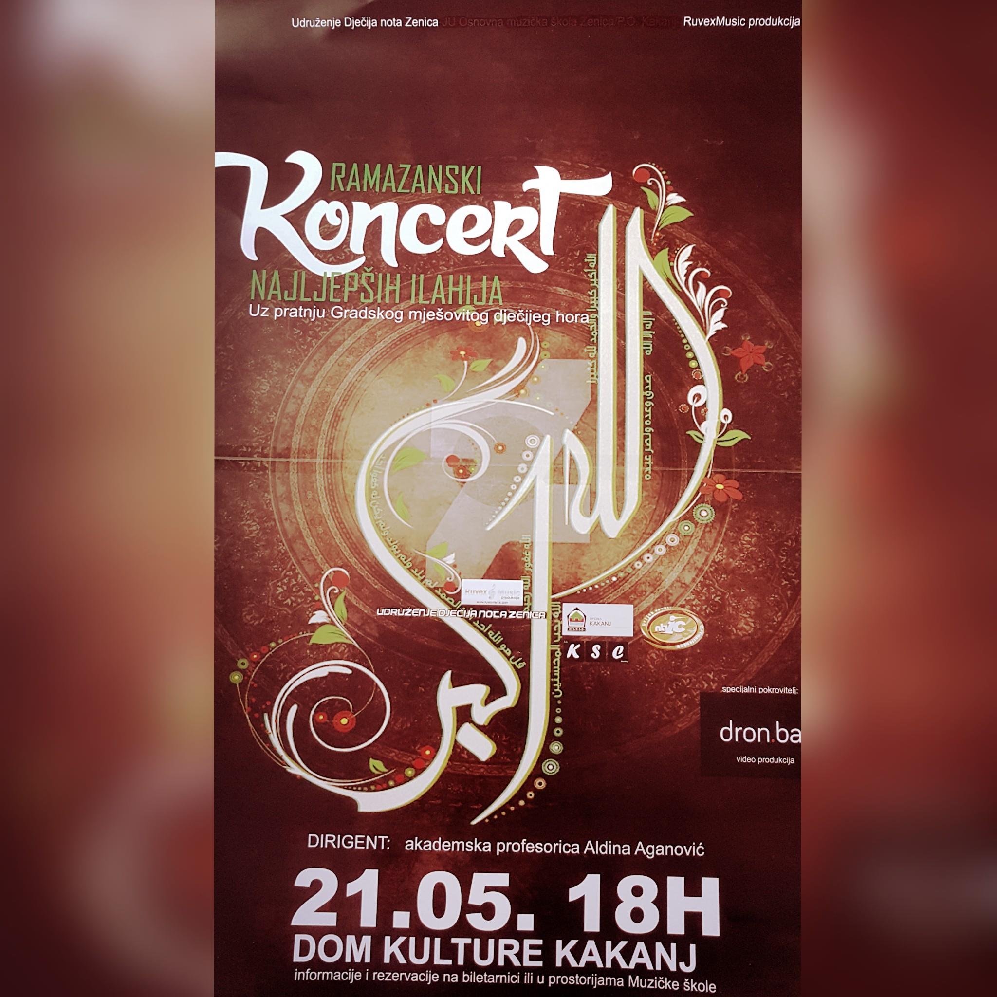 Ramazanski koncert najljepših ilahija u Domu kulture Kakanj