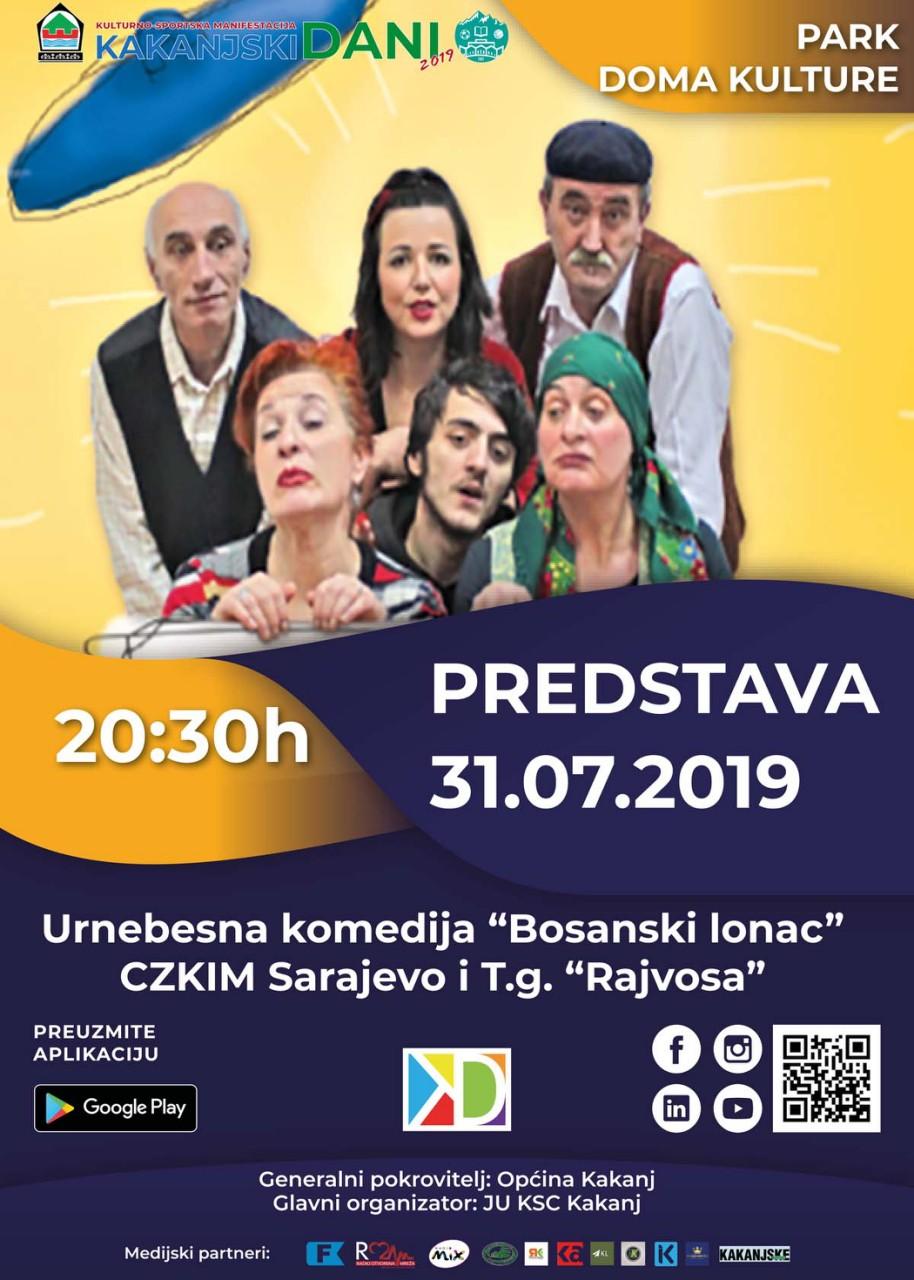 "Urnebesna komedija ""Bosanski lonac"" na pozornici Parka Doma kulture"