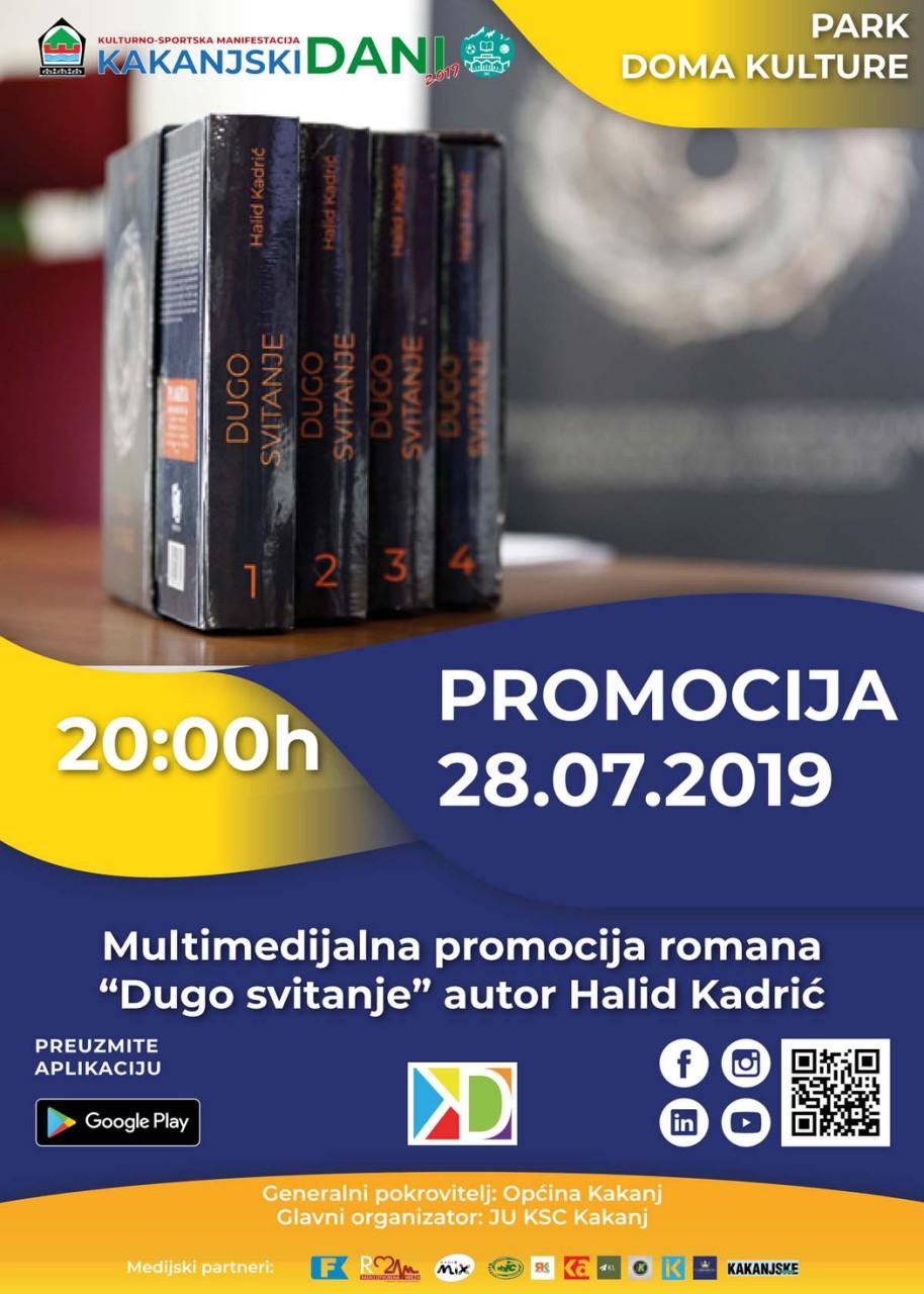 """KD2019: Multimedijalna promocija romana """"Dugo svitanje"""" u Parku Doma kulture"""