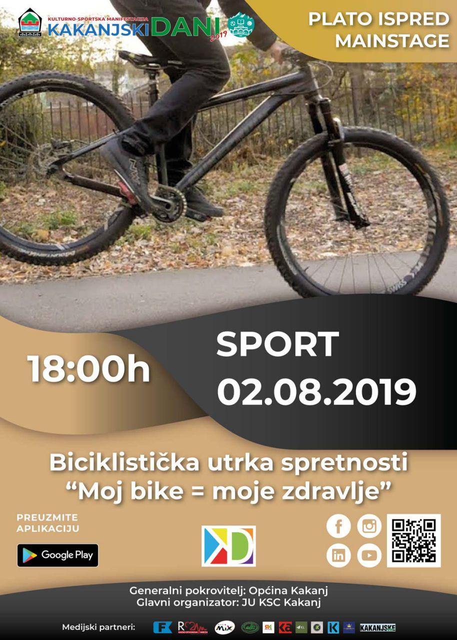 """KD2019: Biciklistička utrka spretnosti """"Moj bike=moje zdravlje"""""""