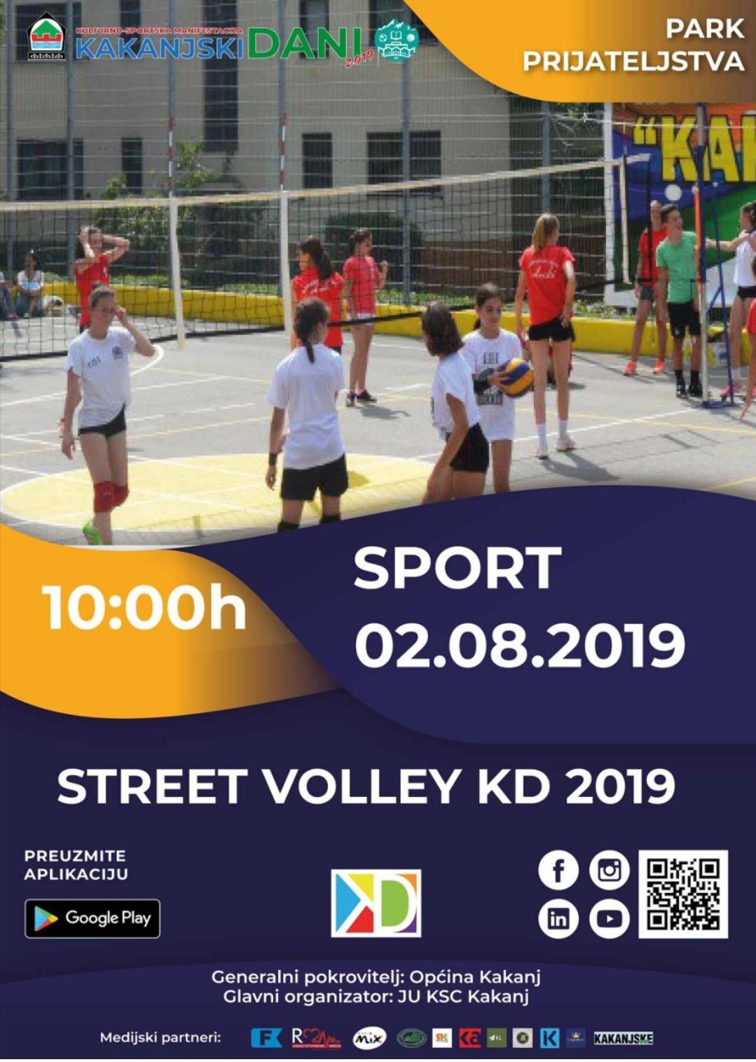 """KD2019: Turnir u odbojci """"Street volley 2019"""""""