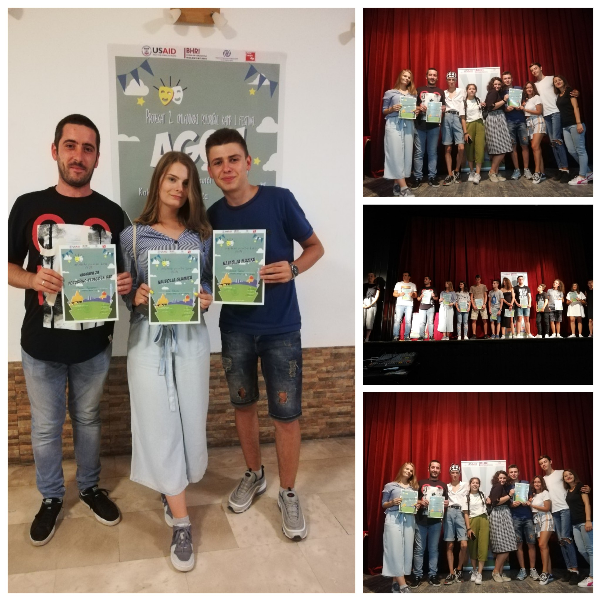 Dramski studio JU KSC Kakanj osvojio 3 nagrade na festivalu u Trebinju