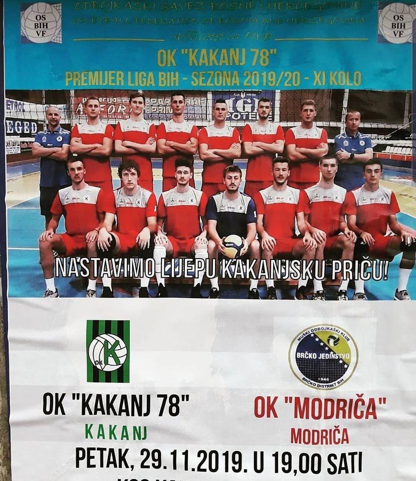 """U petak utakmica između OK """"Kakanj 78"""" i OK """"Modriča"""""""