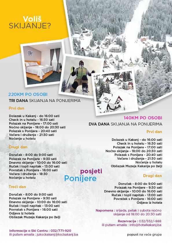 Voliš skijanje? Pogledajte ponudu Hotela Kakanj i JU KSC Kakanj