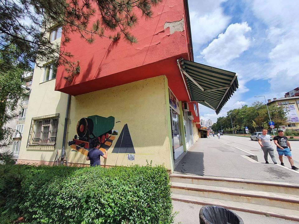 """KD2020: """"Primjeti me 2"""" oslikavanje 3D murala sa motivima Ćire"""