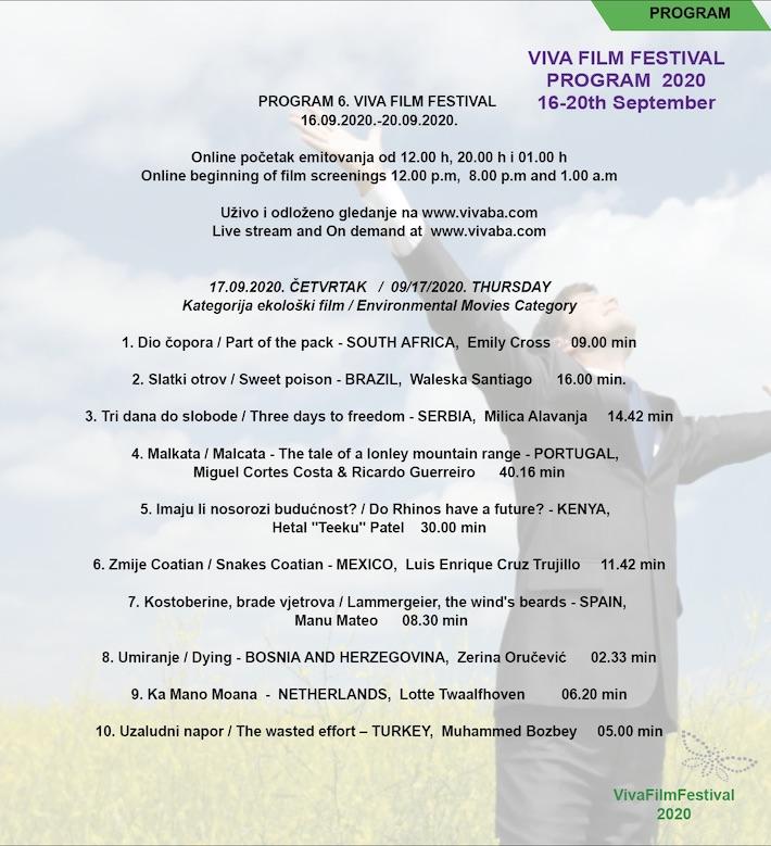 """VIVA FILM FESTIVAL: Danas u kultnom školskom centru """"Europa"""" projekcije filmova iz kategorije ekologija"""