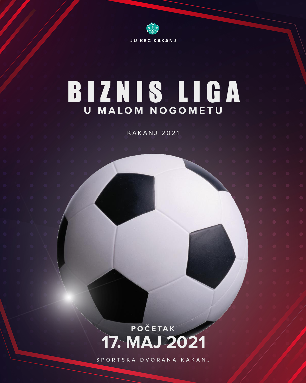 "Takmičenje u malom nogometu ""Biznis liga"" počinje 17. maja u Sportskoj dvorani KSC Kakanj"