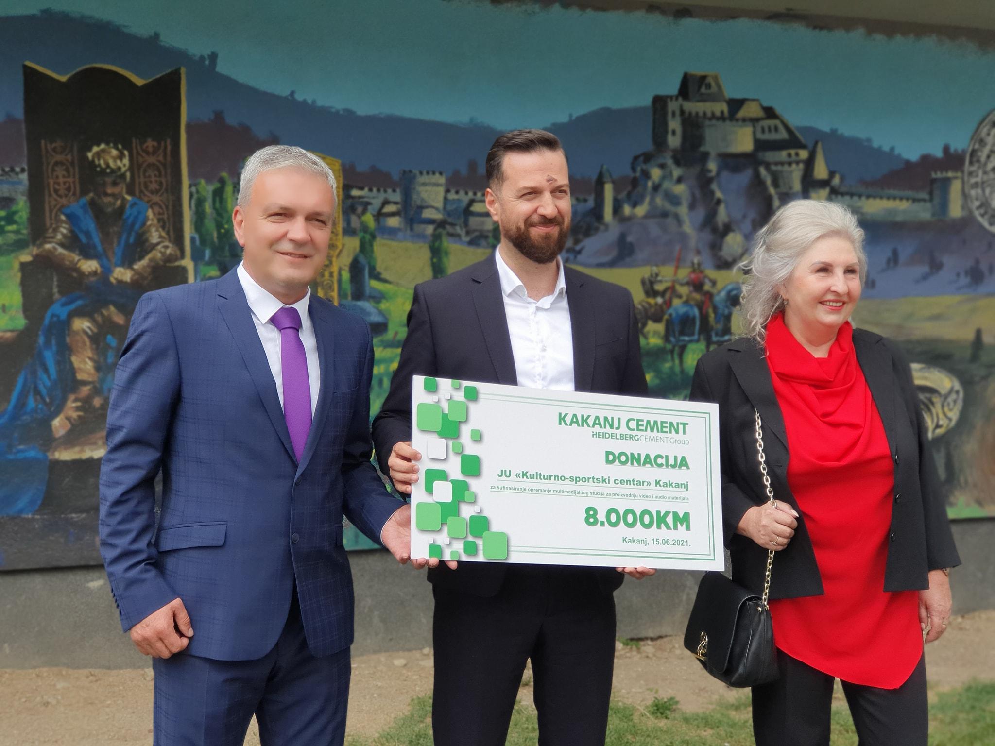 Tvornica cementa Kakanj donirala 8.000 KM za realizaciju projekta