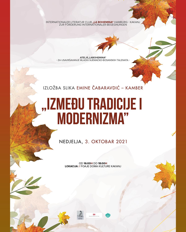 """Likovna izložba pod nazivom """"Između tradicije i modernizma"""" u foajeu Doma kulture"""
