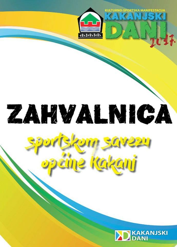 Kakanjski dani 2017: Velika zahvalnica Sportskom savezu Općine Kakanj