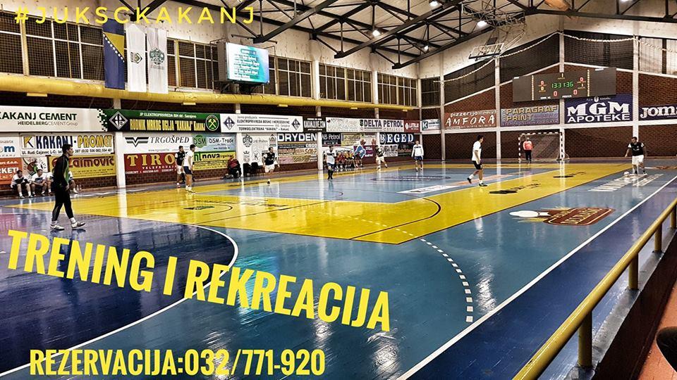 Sportska dvorana KSC Kakanj dostupna za rekreativce : Rezervacija termina 032/771-920