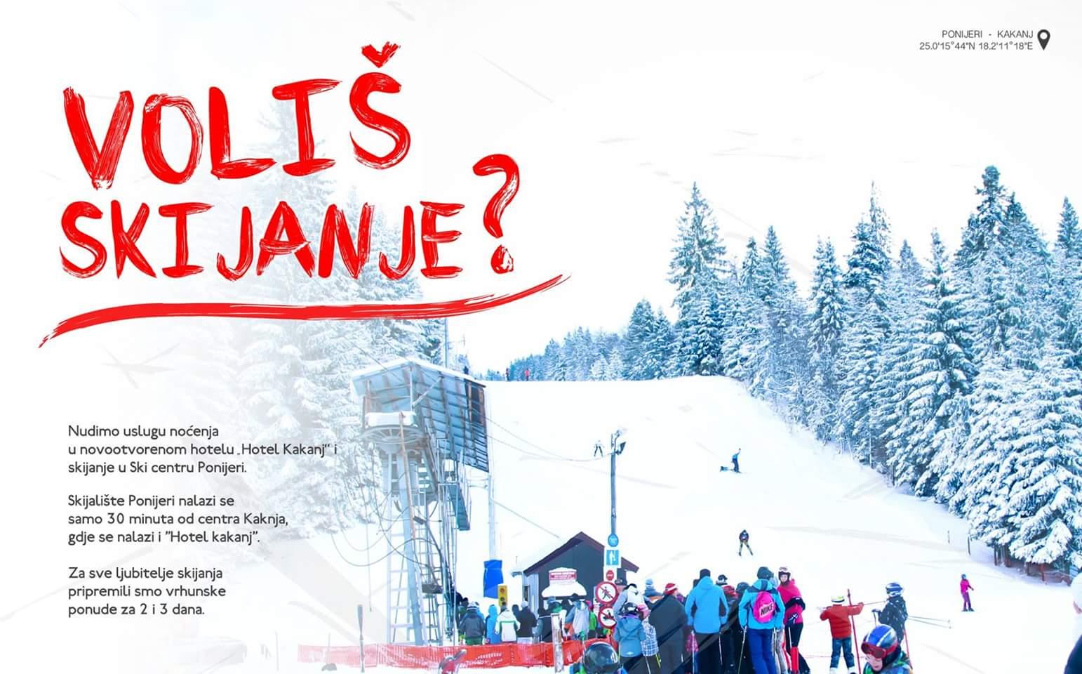 """Posjeti Kakanj, posjeti Ponijere: Nudimo uslugu noćenja u novom hotelu """"Hotel Kakanj"""" i skijanje u Ski centru Ponijeri – Pogledajte našu turističku ponudu"""