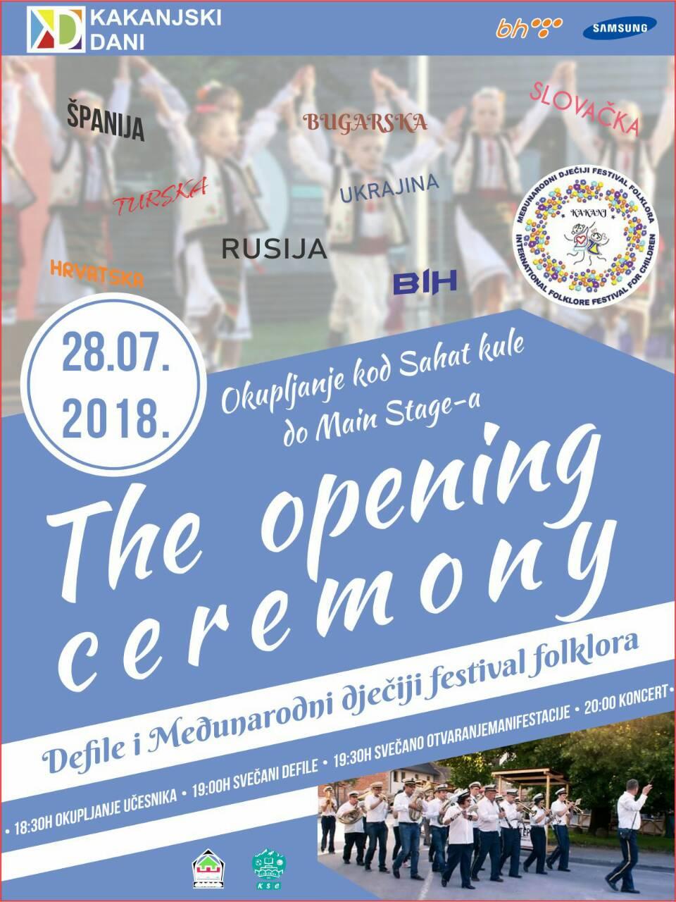 Opening Ceremony KD 2018: Defile i Međunarodni dječiji festival folklora – ovo ne smijete propustiti (učesnici iz 9 zemalja)