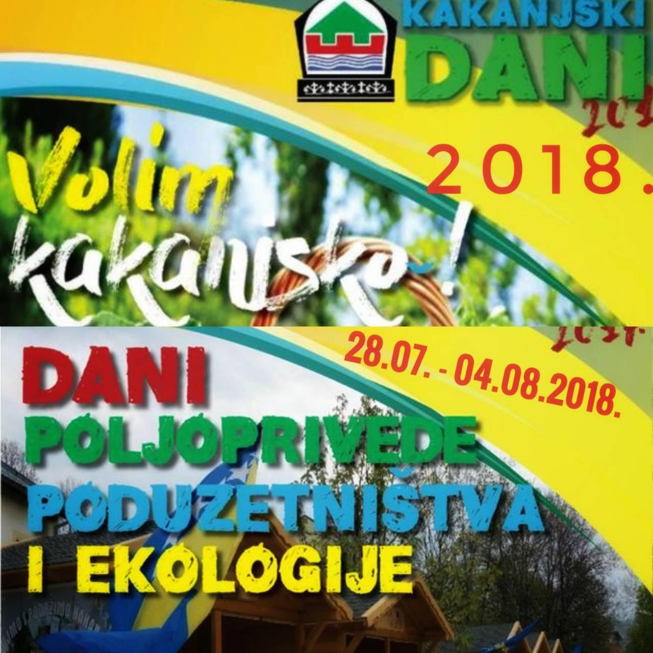 """U sklopu KD2018 tradicionalno """"Dani poljoprivrede, poduzetništva i ekologije"""" – 8 dana"""