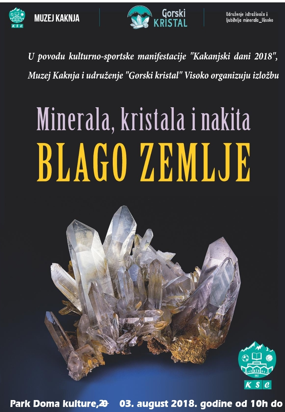 """U sklopu KD2018 dva dana će trajati """"Međunarodni sajam minerala, stijena, fosila, dragog i poludragog kamenja"""" – BLAGO ZEMLJE"""