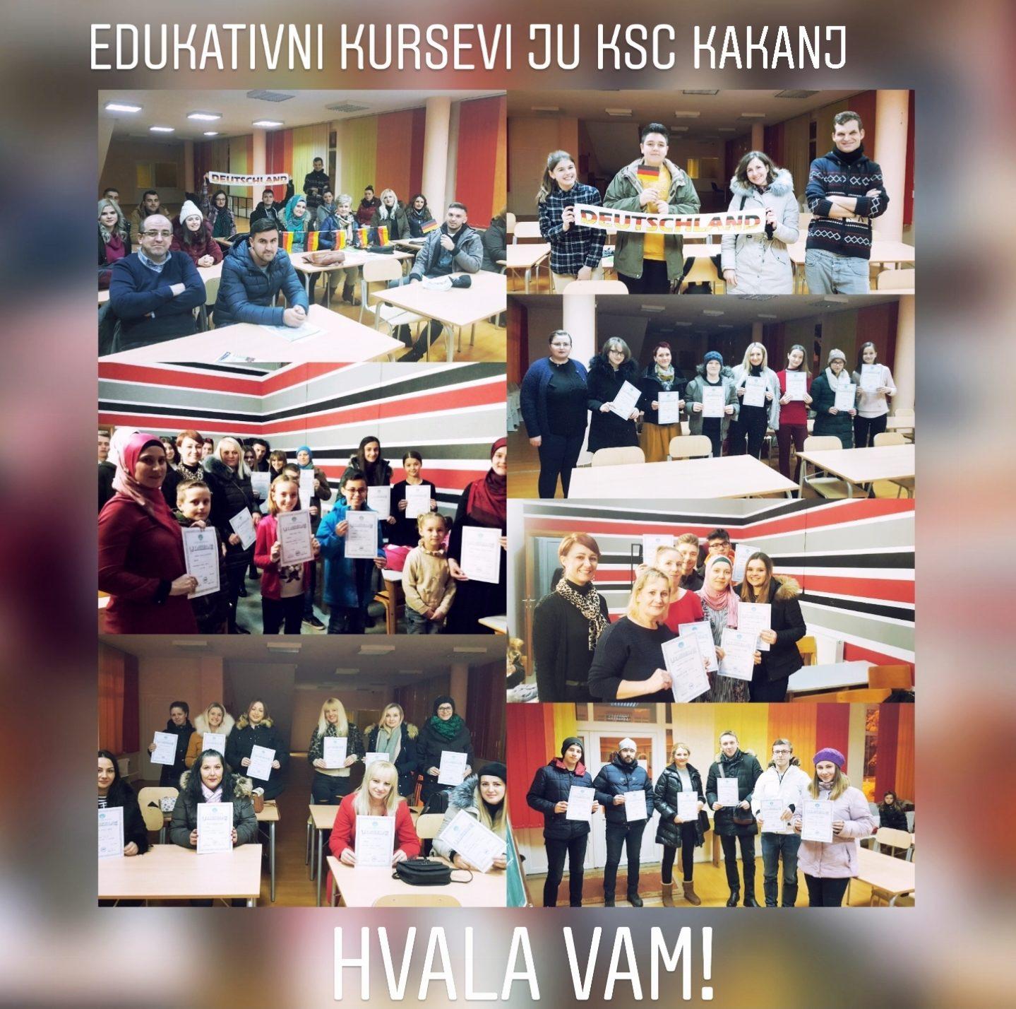 Više od 120 polaznika edukativnih kurseva u JU KSC Kakanj preuzelo svoja zaslužena uvjerenja – HVALA VAM NA POVJERENJU