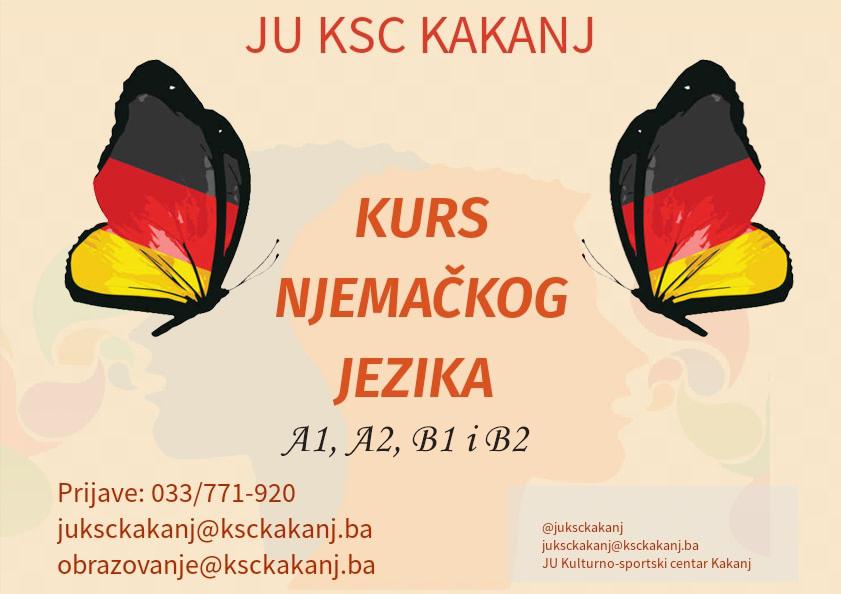 Prijavite se na kurs njemačkog jezika u JU KSC Kakanj