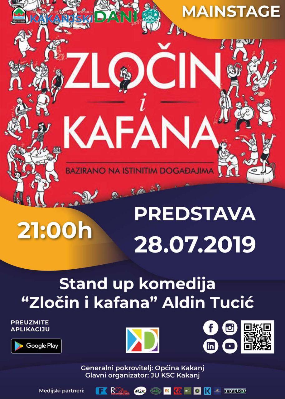 """KD2019: Predstava""""Zločin i kafana"""", u kojoj igra bosanskohercegovački glumac Aldin Tucić"""