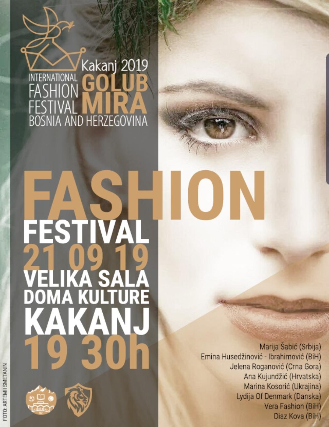 "International Fashion Festival ""Kakanj 2019"" – Golub mira BiH"