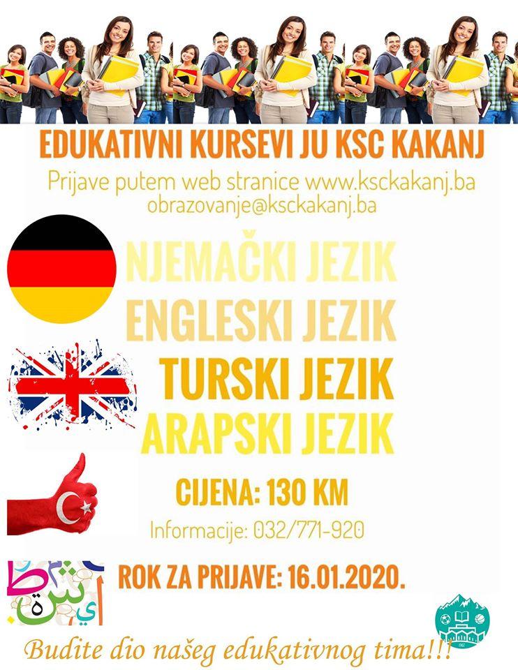 Prijavite se na edukativne kurseve u JU KSC Kakanj