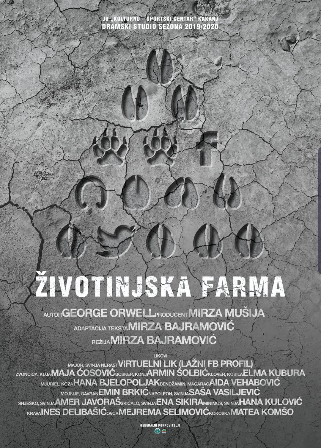 """U nedjelju premijera pozorišne predstave """"Životinjska farma"""" – Dom kulture Kakanj"""