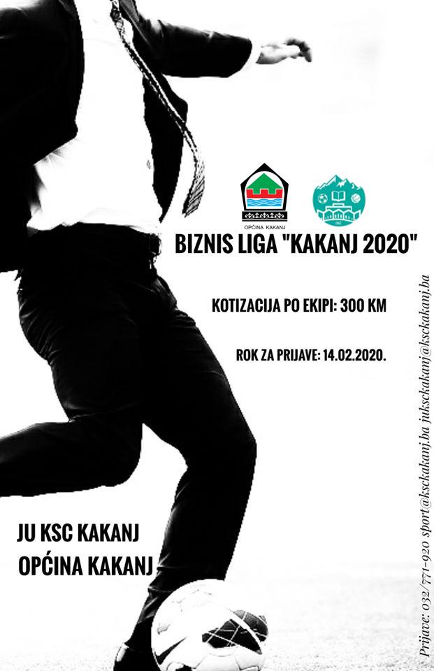 """Prijavite se na sportsku manifestaciju u malom nogometu """"Biznis liga"""" – Kakanj 2020."""