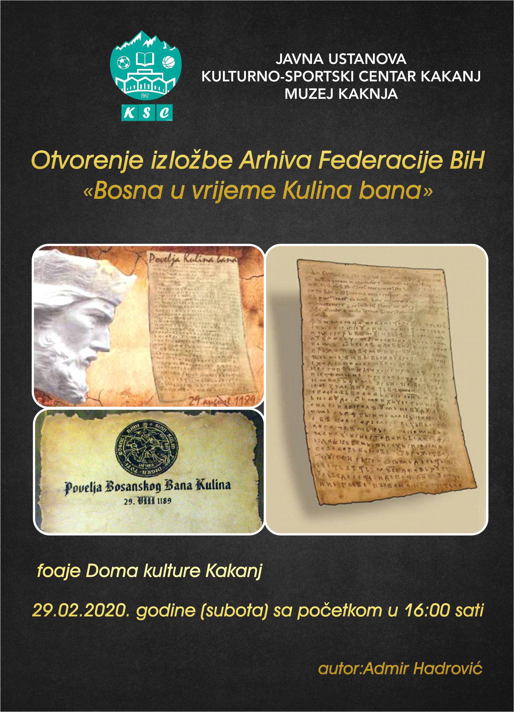 """Foaje Doma kulture: Otvorenje izložbe """"Bosna u vrijeme Kulina bana"""""""