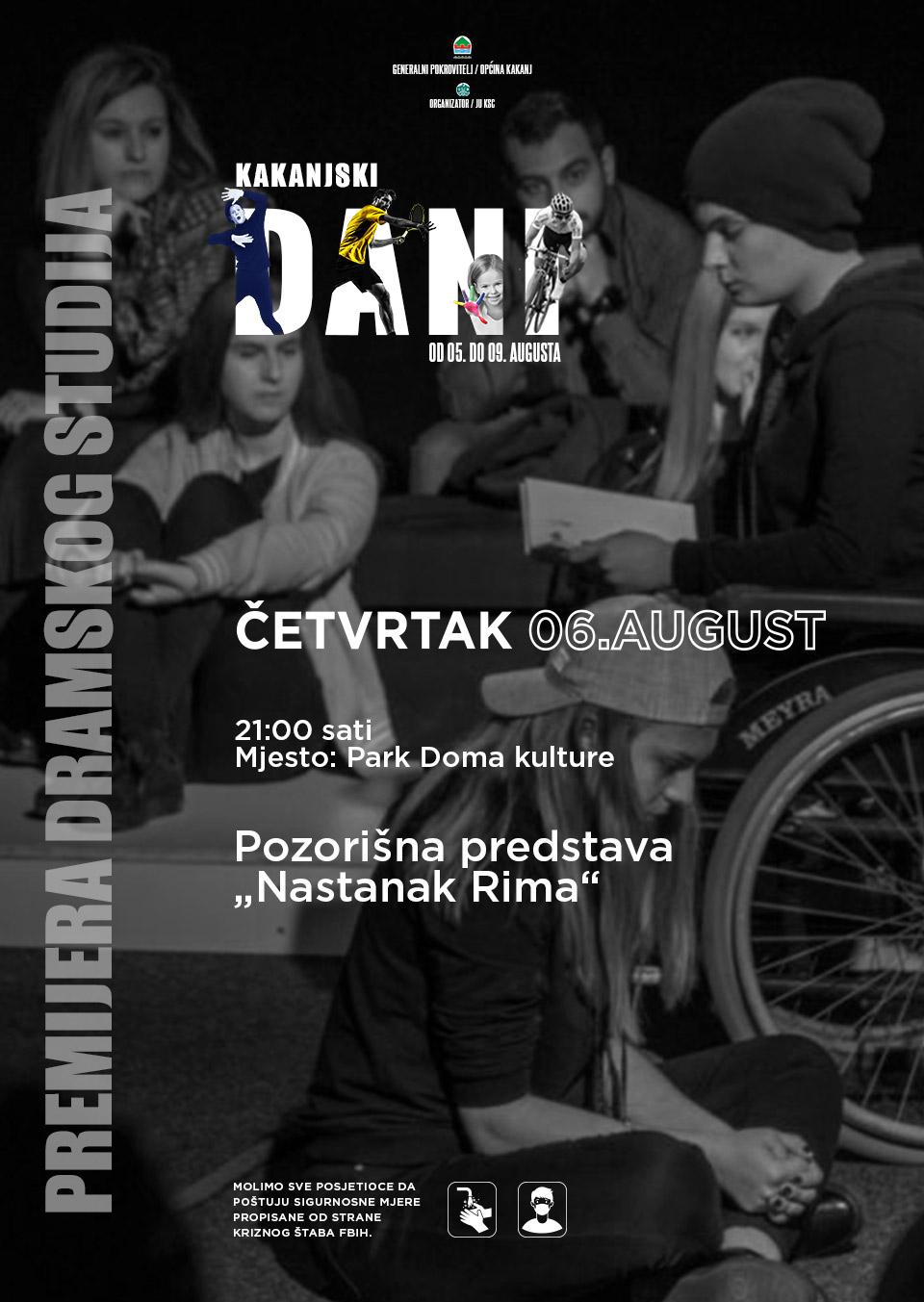 """KD 2020: Premijera predstave """"Nastanak Rima"""""""