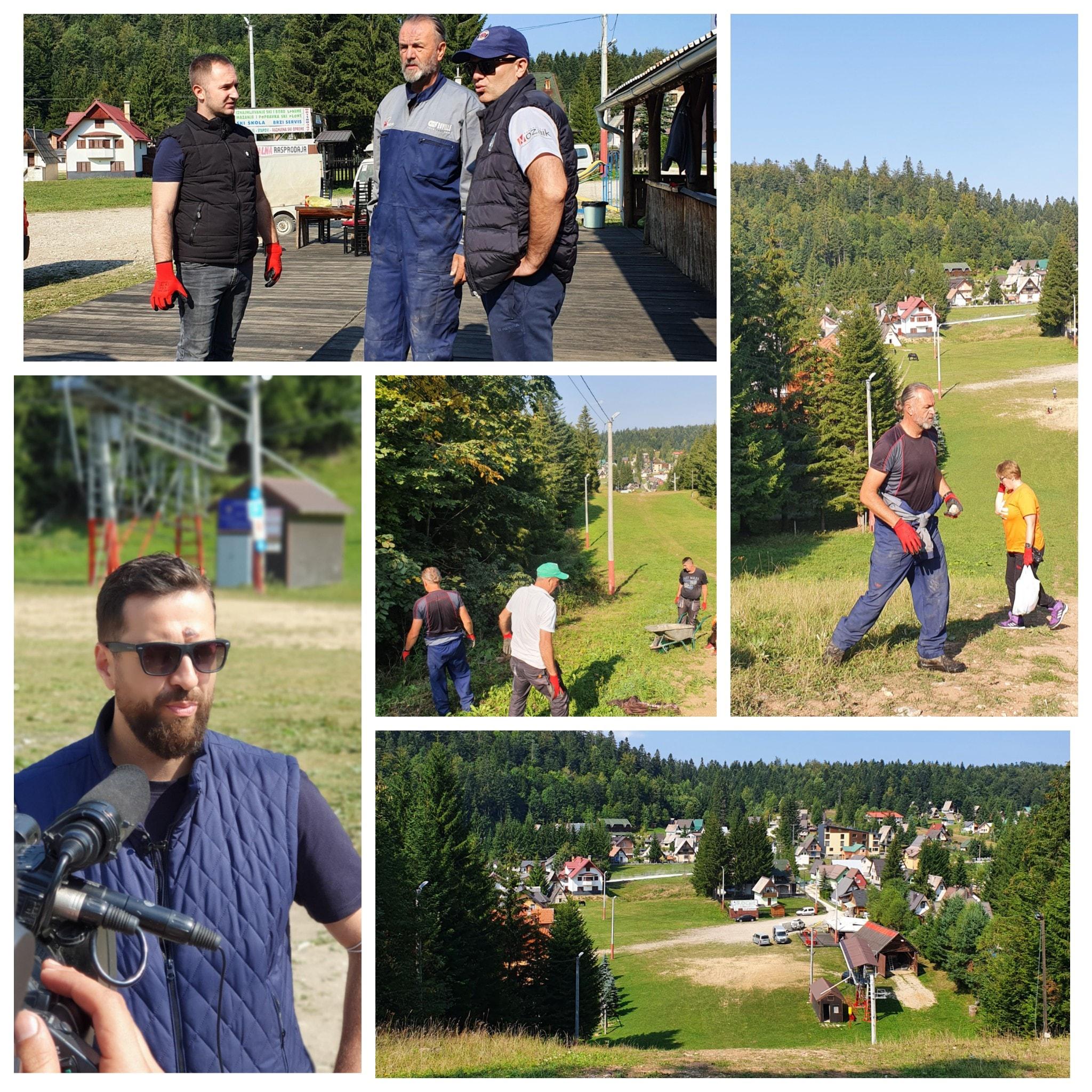 Održana akcija čišćenja i uređenja platoa Ski centra Ponijeri