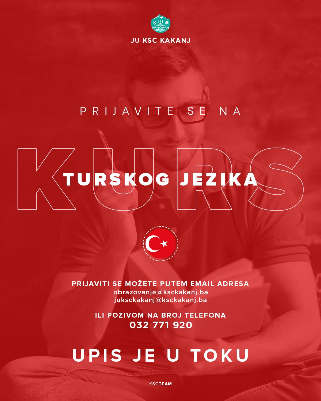 Prijavite se na kurs turskog jezika u JU KSC Kakanj