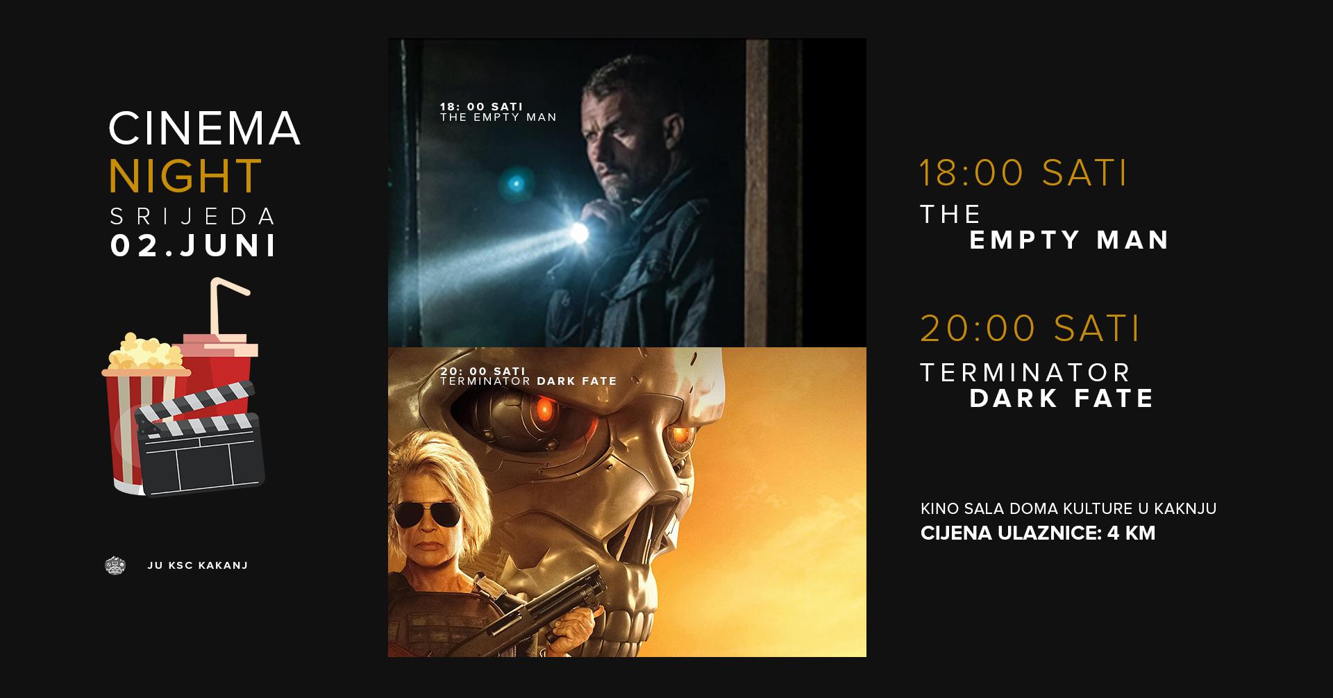 """Najava filmova u Domu kulture: """"The Empty Man"""" i """"Terminator – Dark Fate"""""""